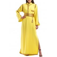 Soft kaftan crepe - yellow