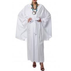 V neck Jumpsuit White