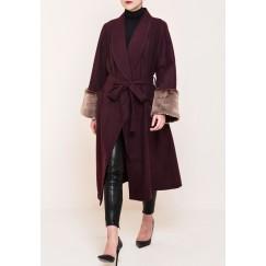 Fur sleeves Coat