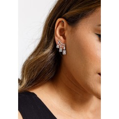 Silver-Tone Grande Elegance Earrings