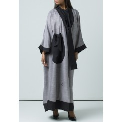 Black tie Abaya
