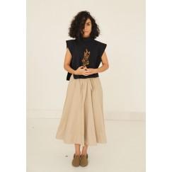 Navy gabarine Kenton Skirt Set