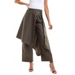 Olive Skirt Pants