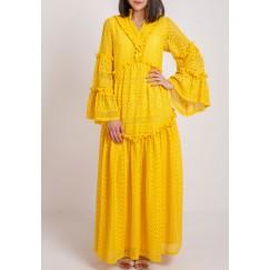 Yellow Lace Kaftan