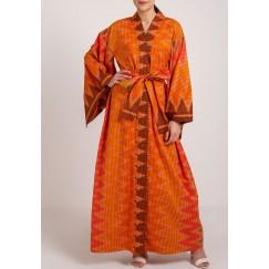 Orange print Kaftan