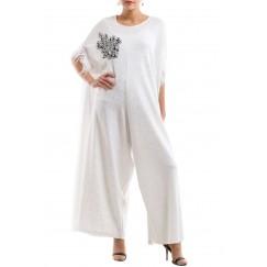 Silver applique jumpsuit