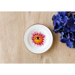 Saucer Flower Eye Plate 12 Pieces