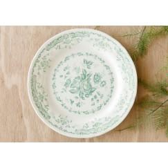 Flower Dinner Plate Sage 12 Pieces