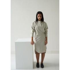 Bianca Beige Wrap dress