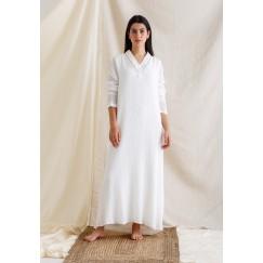 White Lace Back Maxi Kaftan