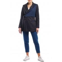 Black & Navy Wrap Around Blazer
