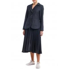 Black Denim 3 Ways Coat