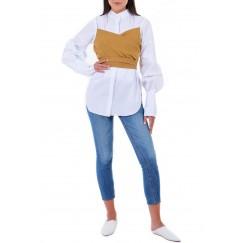 Tie Upfront Ruffle Shirt