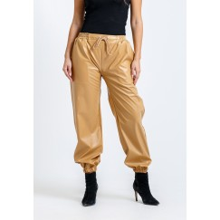 Sarah's Leather Jogger in Camel
