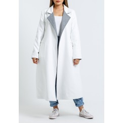 White & Grey Double-Faced Coat