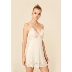 Honey Silk Crepe Slip Dress