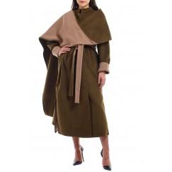 Belted Scarf Coat