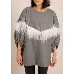 Gray feathers Top