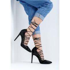 BiBi Black Multi-Strap Heels