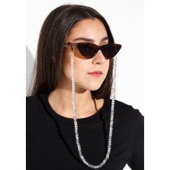 Crystal sunglass chain