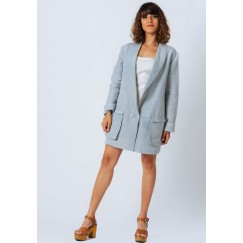 Mint Green Linen Blazer