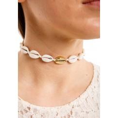 Cowrie shell choker White rope