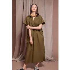 Olive Short Sleeves Kaftan