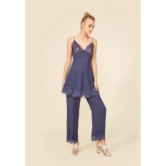Purple Silk Pajama Set