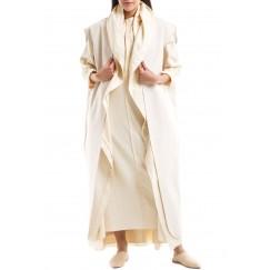 White Maxi Leather Vest