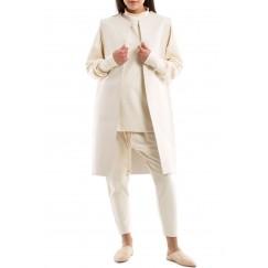 White Leather Sleeveless Vest