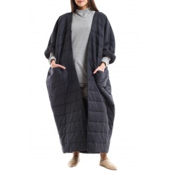Wool puffer bisht