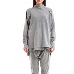 Raglan Grey Long Sleeves Sweater
