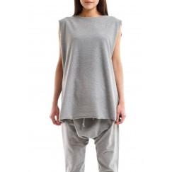 Grey Jersey Sleeveless Tee