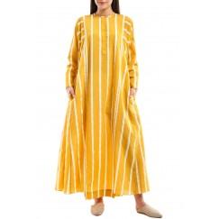 Yellow & White Striped Kaftan