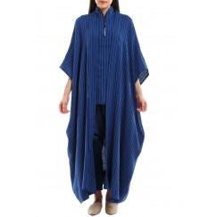 Sleeveles Abaya Striped