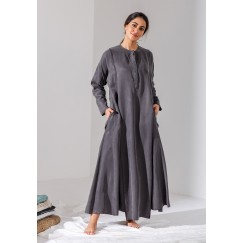 Dark Grey Egyptian Style Kaftan