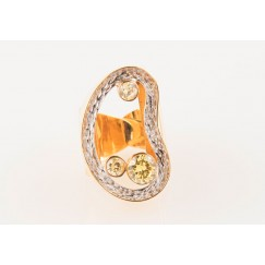 Yellow Cluster Ring