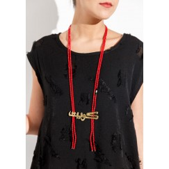 Kuwait 1 necklace (red)