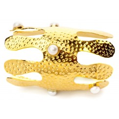 Corallo XL Bangle (Yellow Gold)