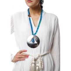 Blue Sun Necklace