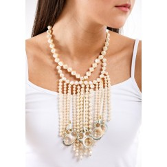 Big Shell Necklace white -Pre order