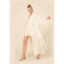 Honey Silk Chiffon Robe Set