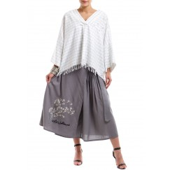 Top & Skirt Grey & Checkered