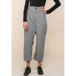 Drop Crotch Checkered Pants