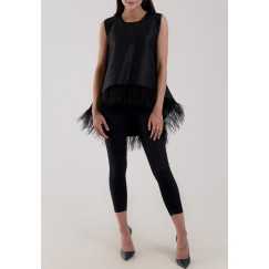 Feather Top Black