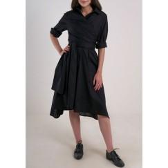 Wrap summer dress Black