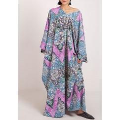 The poncho kaftan purple