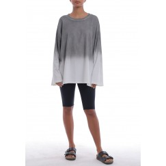 Grey & White Ombre Oversized Shirt