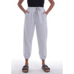 Grey Elastic Waist Sweatpants