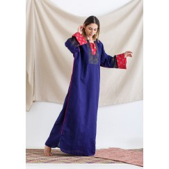 Blue & Orange Maxi Kaftan